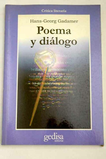 Gadamer Poema y diálogo portada