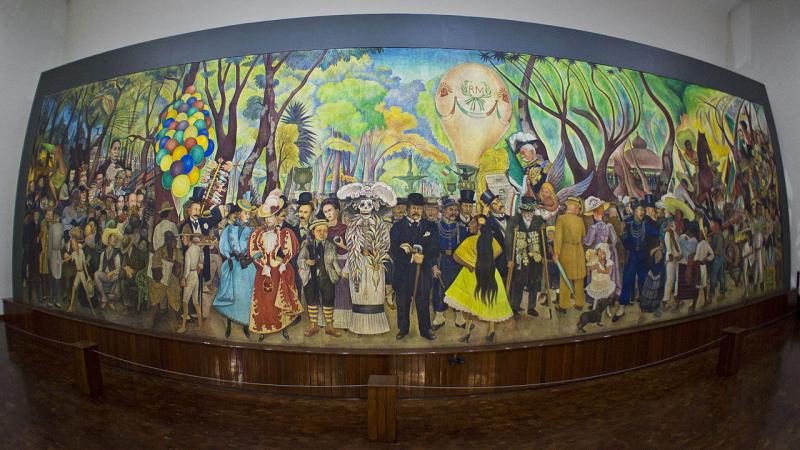Sueño de una tarde dominical en la Alameda Central_Diego Rivera