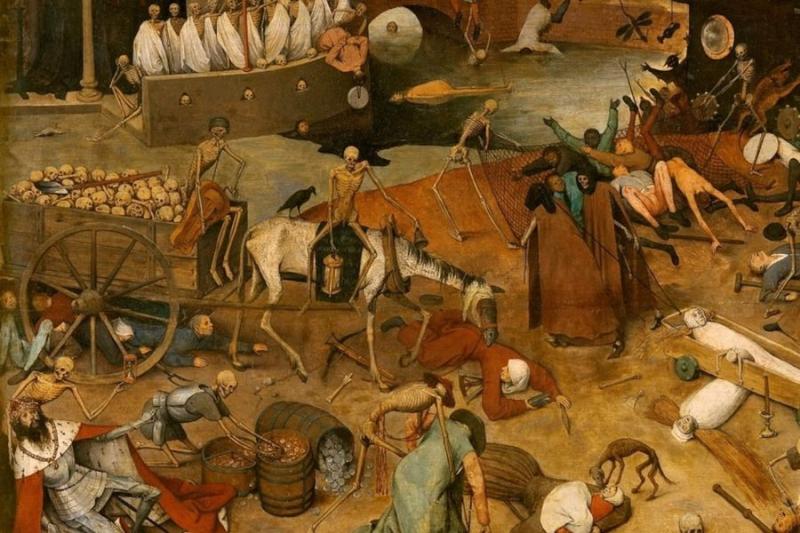 El Triunfo de la Muerte  óleo de Pieter Brueghel el Viejo