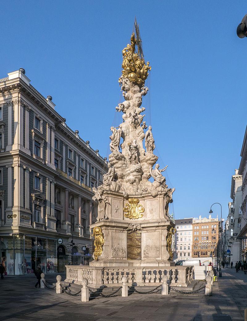 Wien_Graben_Pestsäule_Ostseite_ Foto wikipedia_Thomas Ledl