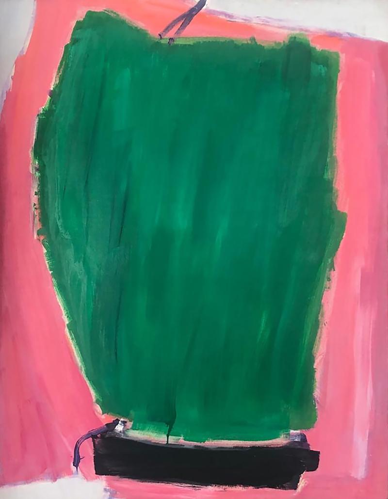 JOSE GUERRERO Serie Sur con verde  firmado  fechado y titulado al dorso  1981   oleo-lienzo 150x120cm