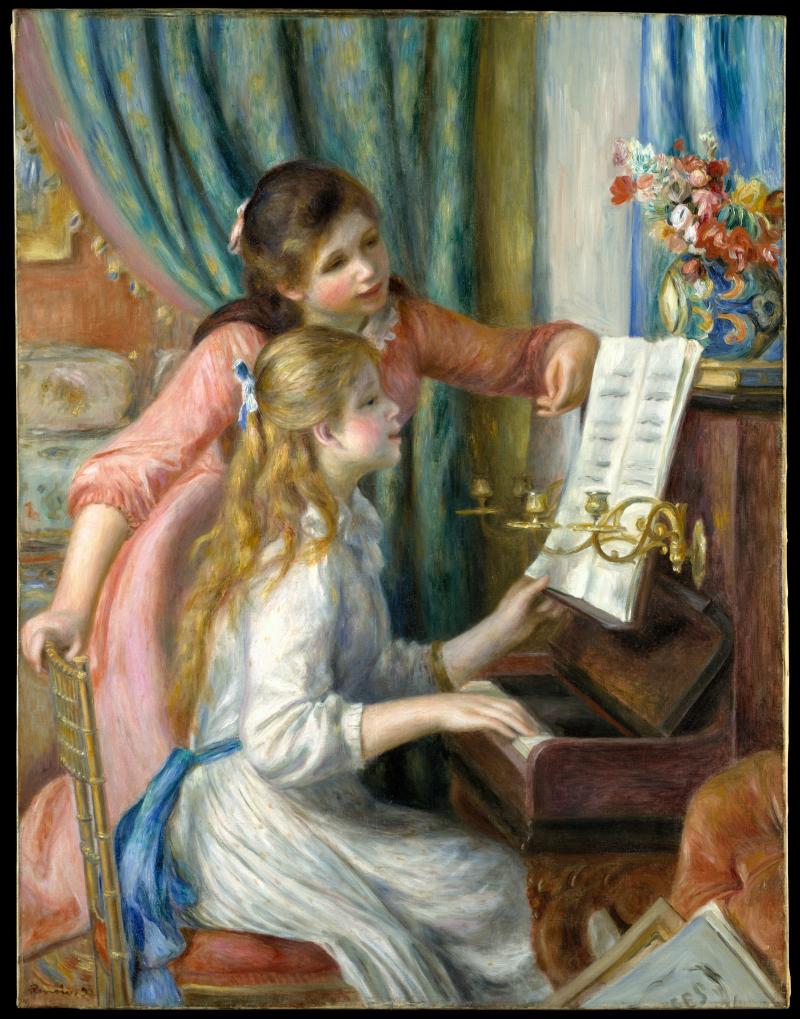 Muchachas tocando el piano_Renoir