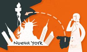 Bio Dos guionistas y una cita: Laura Lebrel en Nueva York